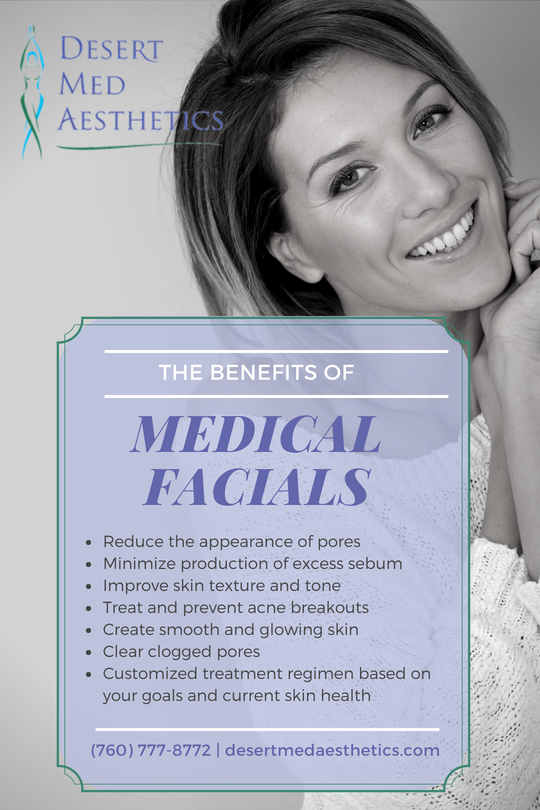 Medical Facials benefits poster